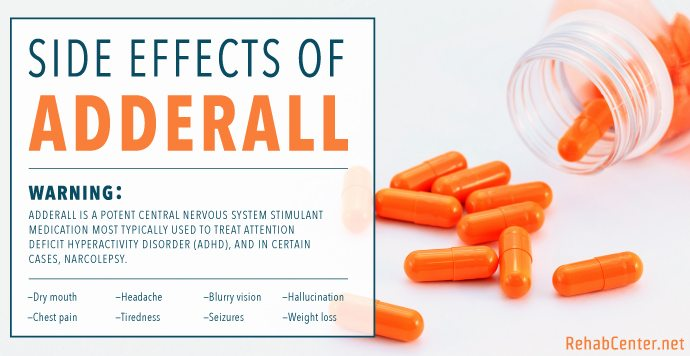 RehabCenter.net Side Effects Of Adderall