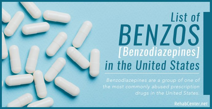 RehabCenter.net List of Benzodiazepines in the United States