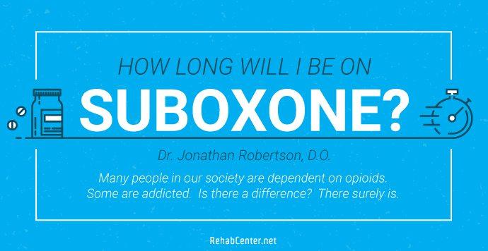 RehabCenter.net How long will I be on Suboxone_