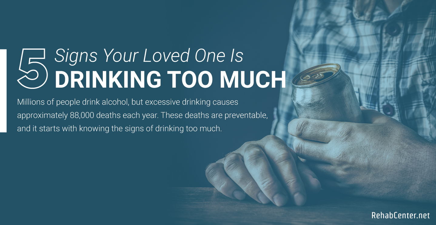 RehabCenter.net 5 Signs Your Loved One Is Drinking Too Much Featured Image