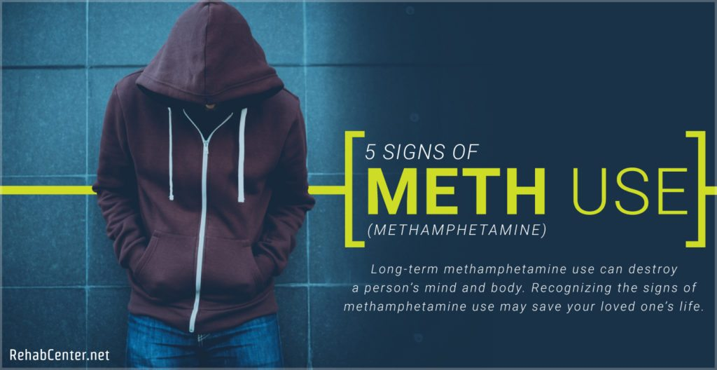 RehabCenter.net 5 Signs Of Methamphetamine Use Featured Image