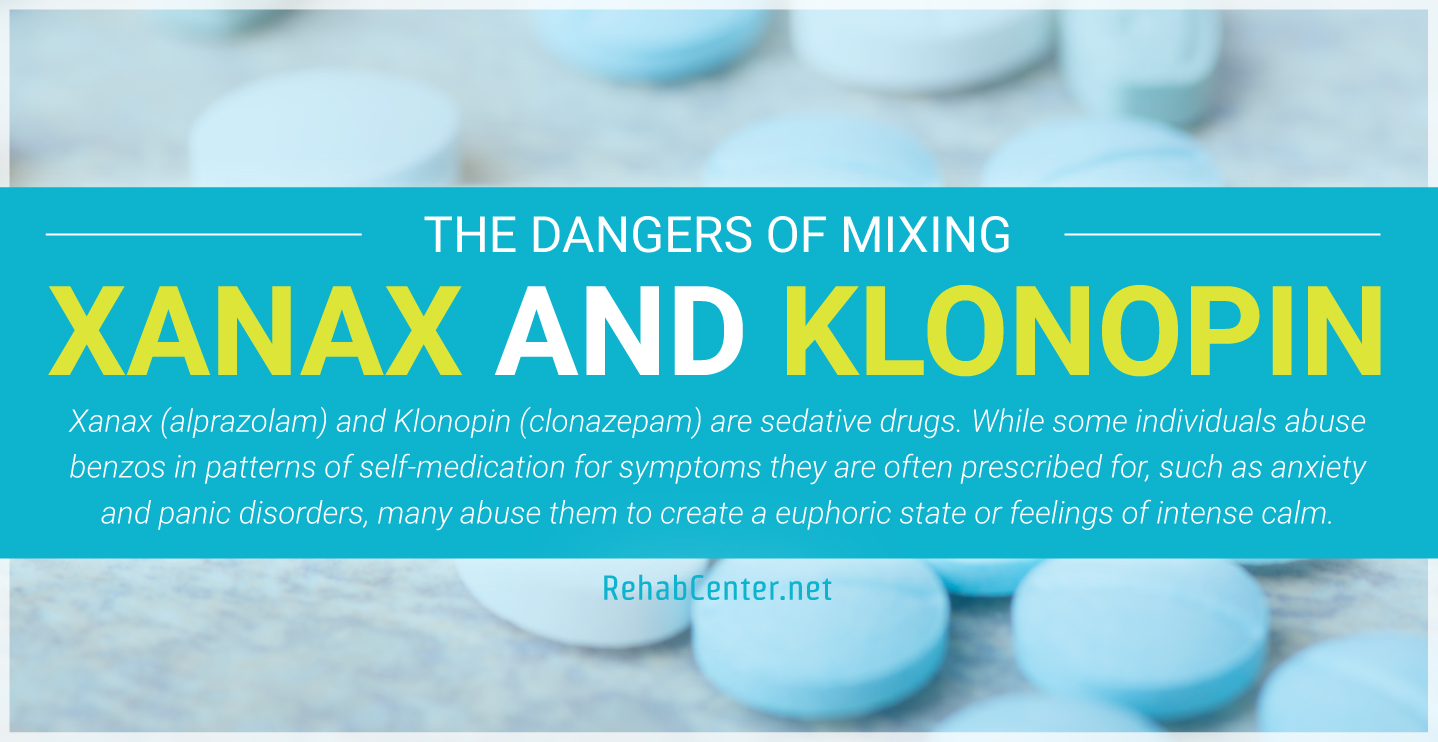RehabCenter.net The Dangers Of Mixing Xanax And Klonopin Featured Image