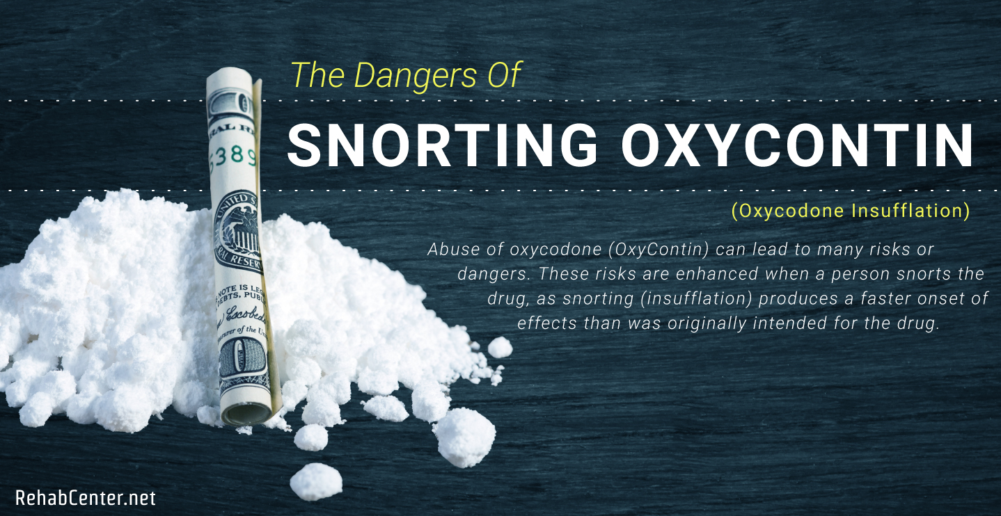 RehabCenter.net The Dangers Of Snorting OxyContin Featured Image