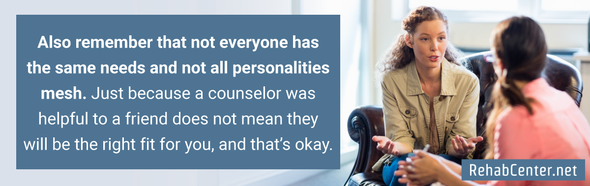 RehabCenter.net Choosing The Right Substance Abuse Counselor Not Everyone Has The Same Needs